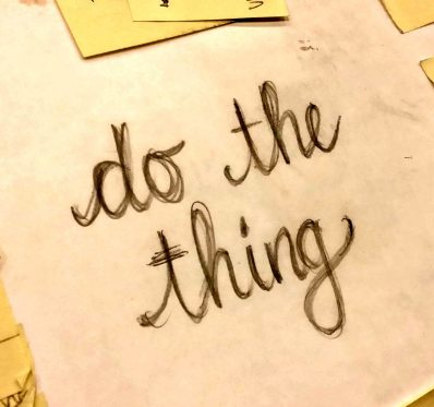 do the thing hand lettered cropped
